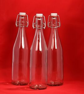 B-WARE 60 x 250 ml leere Bügelverschlus<wbr/>s Bügelflasche Glas-Flasche Sonder-posten