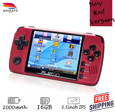 Red Playgo Retro Video Game Handheld Console Gameboy Pocketgo Ps1 Emulator Ebay