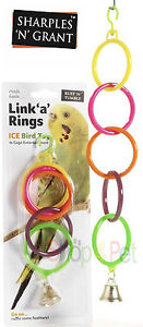 Bird-Cage-Toy-Link-039-a-039-Rings-Bell-Toy-Budgie-Parakeet-Cockatiel-pet