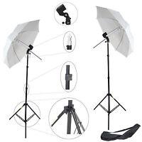 Kit DynaSun 2x W963S Photo Studio x Flash Lamp Light w Holder Umbrella Stand Bag