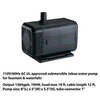 Jebao Jp3500 1188gph Waterfall Pond Pump