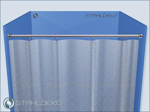 Duschabtrennung Ø 10mm  bis 120cm Edelstahl-V2A | Exquisite (in) Verarbeitung