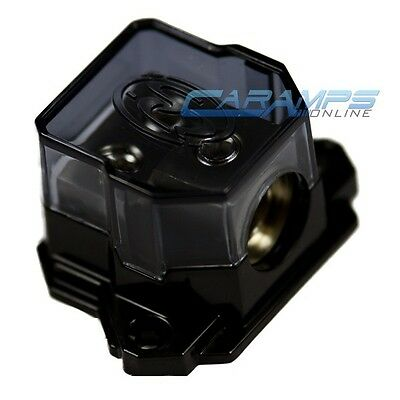 NEW STINGER 0G TO 4 GAUGE POWER / GROUND AMP CABLE DISTRIBUTION BLOCK W/ COVER