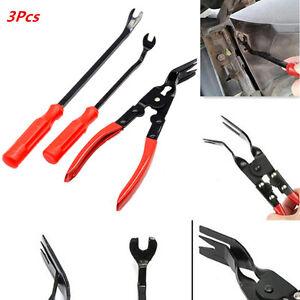 3x Car Clip Plier Fastener Remover Essential Combo Repair Puller Pliers Tool Kit