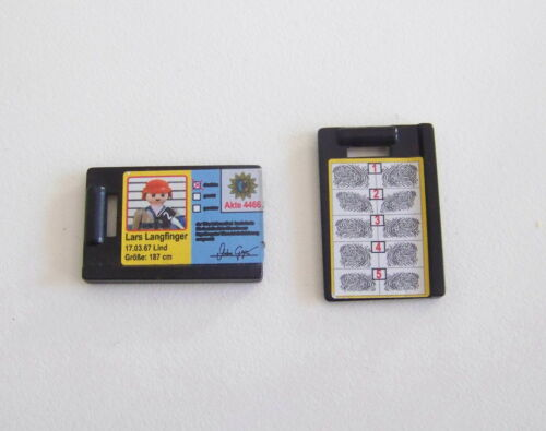 Playmobil police-identification plate 4264 bandit lars langfinger k1159