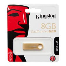 Kingston 8GB Data Traveler Metal Slim GE9 USB Pen Memory Flash Drive DTGE9/8GB