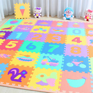 10 x Baby Soft EVA Foam Play Mat Alphabet Numbers Puzzle DIY Toy ...