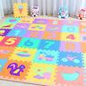 10 x Baby Soft EVA Foam Play Mat Alphabet Numbers Puzzle DIY Toy Floor Tile Game