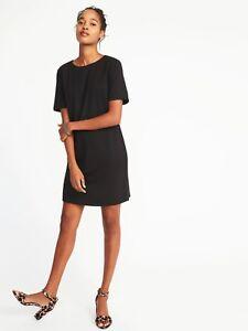 ffcc465bf4b4bb NWT  Old Navy Short Sleeve Ponte Knit Shift Dress  Black  Size ...