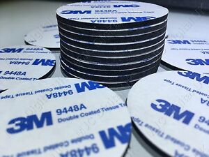 30pcs-3M-9448A-Diameter-35mm-Circle-Black-Double-Coated-Tape-Adhesive-PAD-2mm