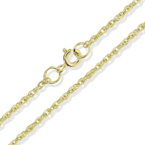 9CT SOLID GOLD 16 18 20 22 24 28 OVAL ROUND D//C BELCHER ROPE POW CHAIN NECKLACE