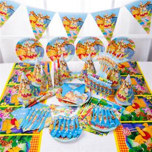 Winnie-l-039-Ourson-fete-d-039-anniversaire-Fournitures-Sac-ballon-Vaisselle-Assiettes-Decoration