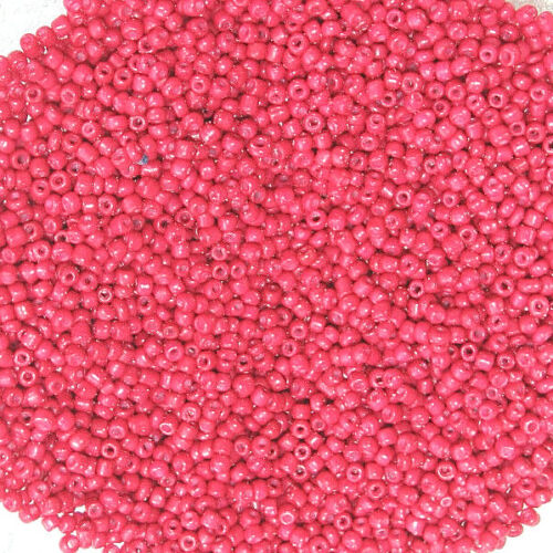 Opaque Rouge Framboise 40 g 2 mm perles de rocaille