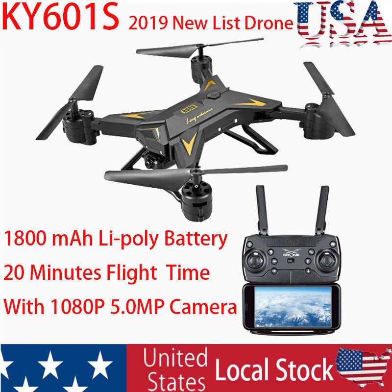 Ky601s wf fpv - quadcopter drohne mit 1080p 5.0mp kamera - 1800mah batterie i31