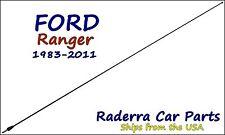 """1983-2011 Ford Ranger - 32"""" Black Stainless AM FM Antenna Mast"""