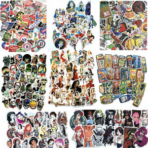 NEW-10-Kinds-of-Stickers-Vinyl-Skateboard-Guitar-Travel-Case-sticker-pack-Decal