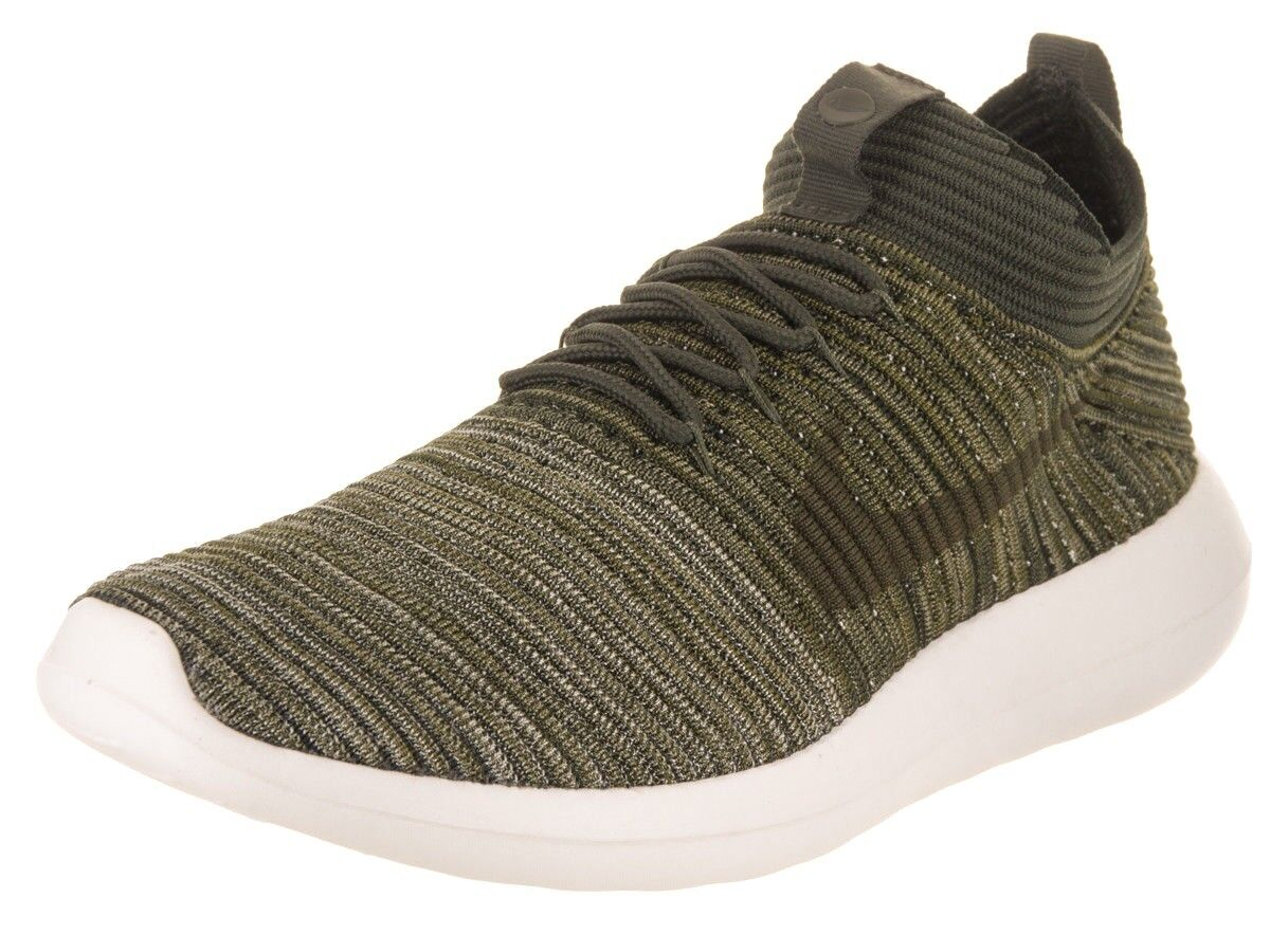 Nike Men's Roshe Two Flyknit V2 Running Shoe Khaki Olive ~FREE SHIPPING~