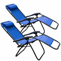 2-Pack Tahoe Gear Zero Gravity Outdoor Patio Recliners / Lounge Chairs (Black or Blue)