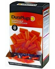Liberty DuraPlug Corded Disposable Foam Earplug with 32 dB NRR, Orange-Free