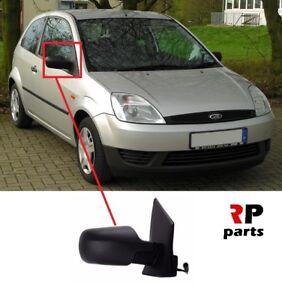 Para-Ford-Fiesta-2002-2008-nueva-ala-espejo-electrico-climatizada-Negro-Derecho-O-S-LHD