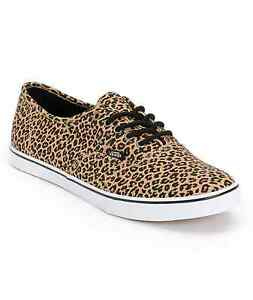 02771adc99 Image is loading Vans-LEOPARD-HERRINGBONE-Womens-Shoes-NEW-Authentic-Lo-