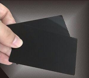 100 Black Anodized Aluminum Business Card Blanks - Laser Engraver, Round Corners