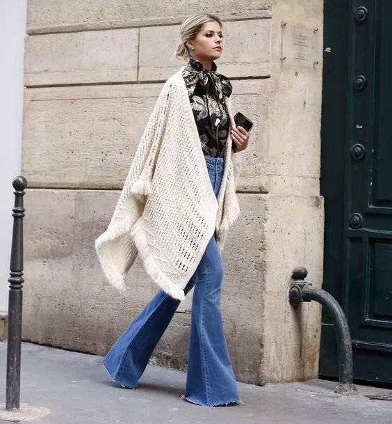 Plus Size Women Skinny Flare Denim Jeans Retro Bell Bottom Stretch Pant Trouses