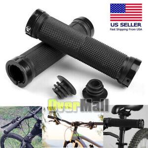 Ergonomic-Rubber-MTB-Mountain-Bike-Bicycle-Handlebar-Grips-Cycling-Lock-On-Ends