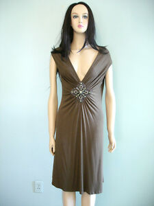 Forever 21 XXI Sexy Olive Green Dress with Jeweled Rhinestone ... 476b96c8f641