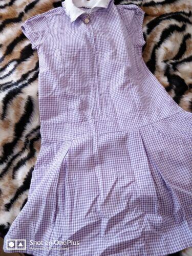 Lovely Girls M/&S Lilac School Dress Age 8 yrs