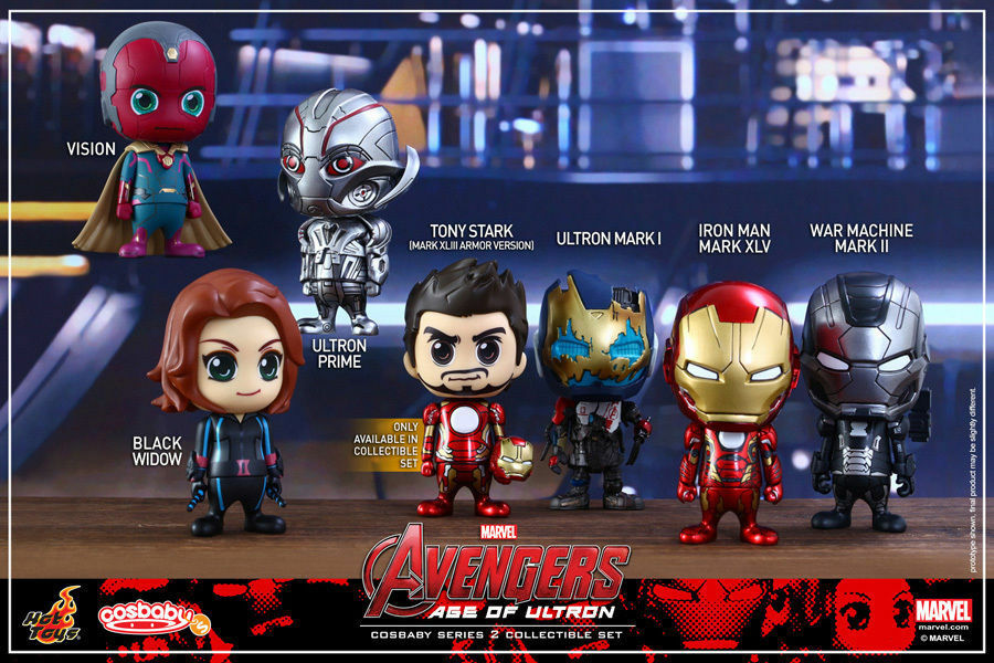 Hot Toys - Marvel Avengers Age of Ultron Series 2 Figure - Set of 7 Cosbaby New