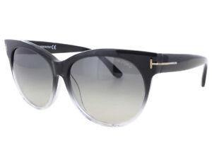 67aa6edfb8fcf Image is loading Tom-Ford-SASKIA-Sunglasses-Black-Transparent-Frame-Smoke-