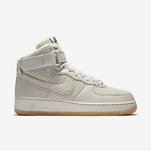 2016 WMNS Nike Air Force 1 Hi Premium SZ 9.5 Light Bone Gum Bottom 654440-005