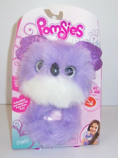 Pomsies Lovable Wearable Pom Pom Sydney Interactive Plush Toy - New