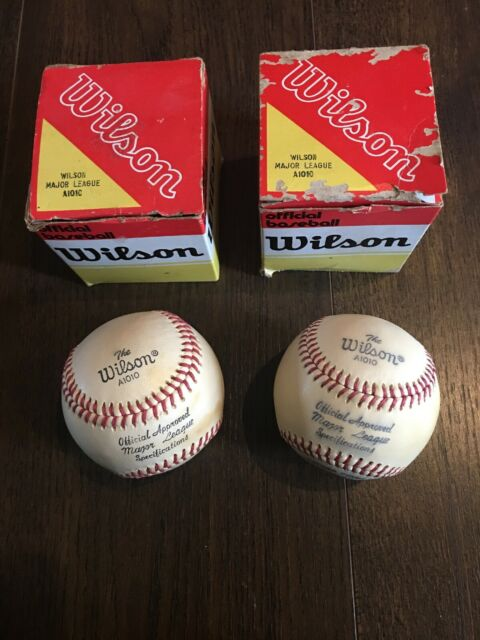 Vintage WILSON A1010 Major League Baseball Leather Covered Cushioned Cork  Center