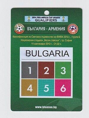 Begeistert Orig.ticket / Pass Wm Qualifikation 11.09.2012 Bulgarien - Armenien ! Selten