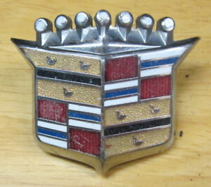 65 66 Cadillac Fleetwood Door Panel /& Convertible Rear Speaker Crest Emblem NOS