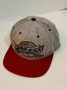 Cleveland-Cavaliers-Basketball-Ball-Cap-Hat-Mitchell-amp-Ness-Snap-Back-NBA