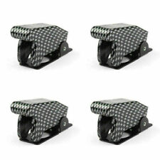4pcs Toggle Switch Boot Plastic Safety Flip Cover Cap 12mm Carbon Fiber Fn