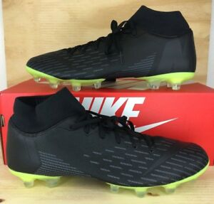 newest c0813 0f37e Details about Nike ID Mercurial Superfly VI Academy AO1516-991 TRIPLE BLACK  CLEATS MENS SIZE 9
