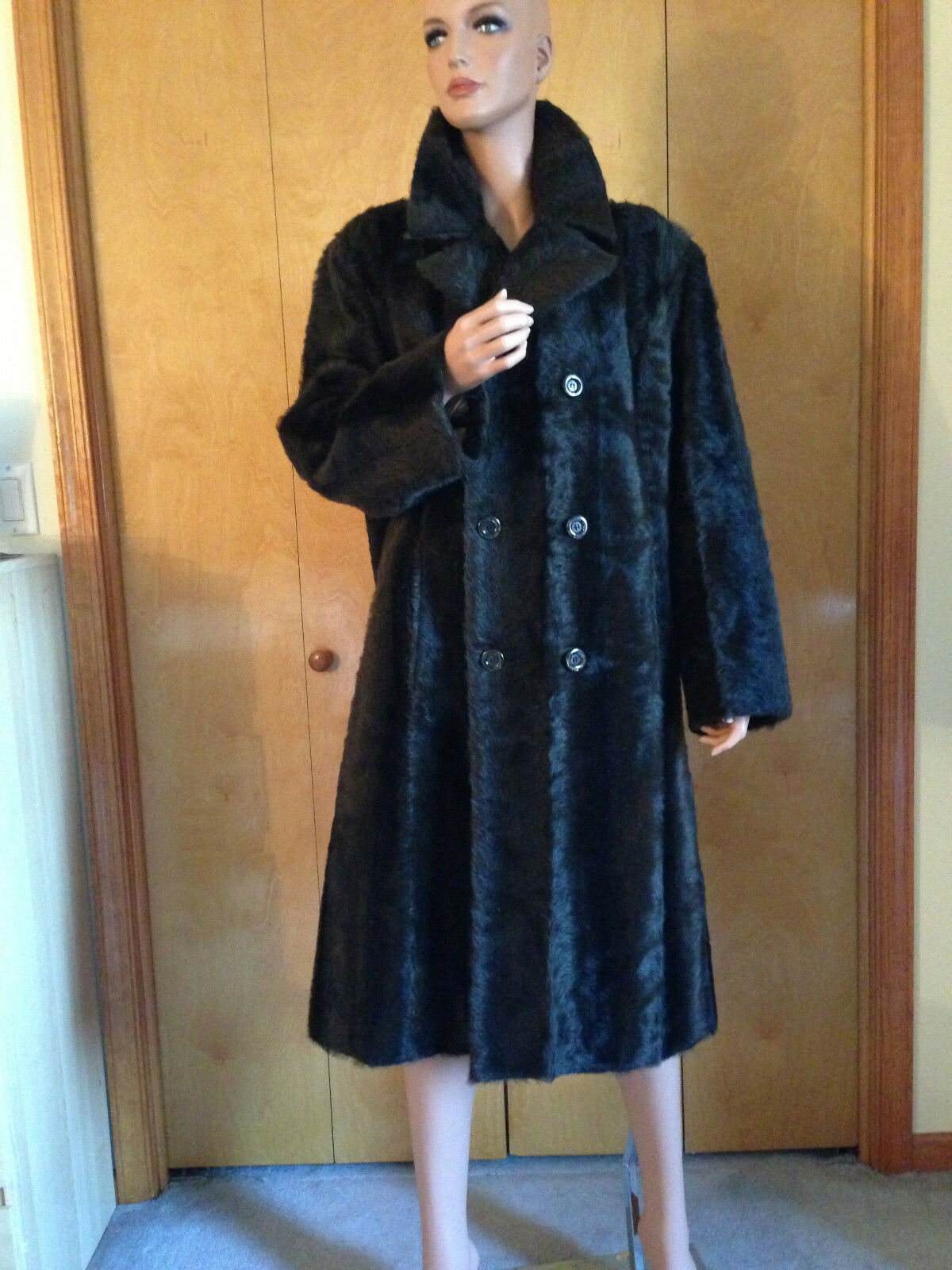 DENVER CREATION DESIGNER BROWN GENUINE MINK FUR LONG COAT OUTWEAR 48   18 - 1X