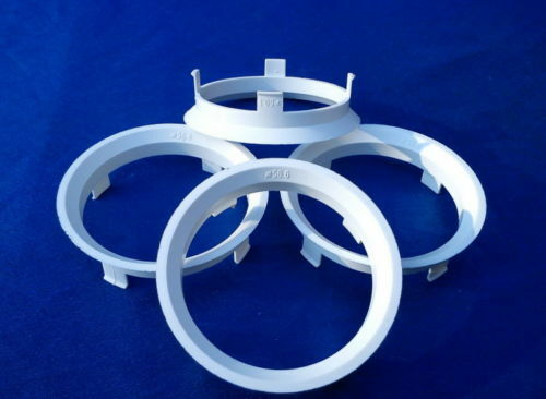 a601566 4 pezzi anelli di centraggio 60,1//56,6 MM BIANCO PER CERCHI IN LEGA