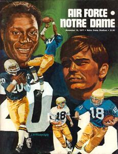 1977 Notre Dame Air Force Falcons Football Program | eBay