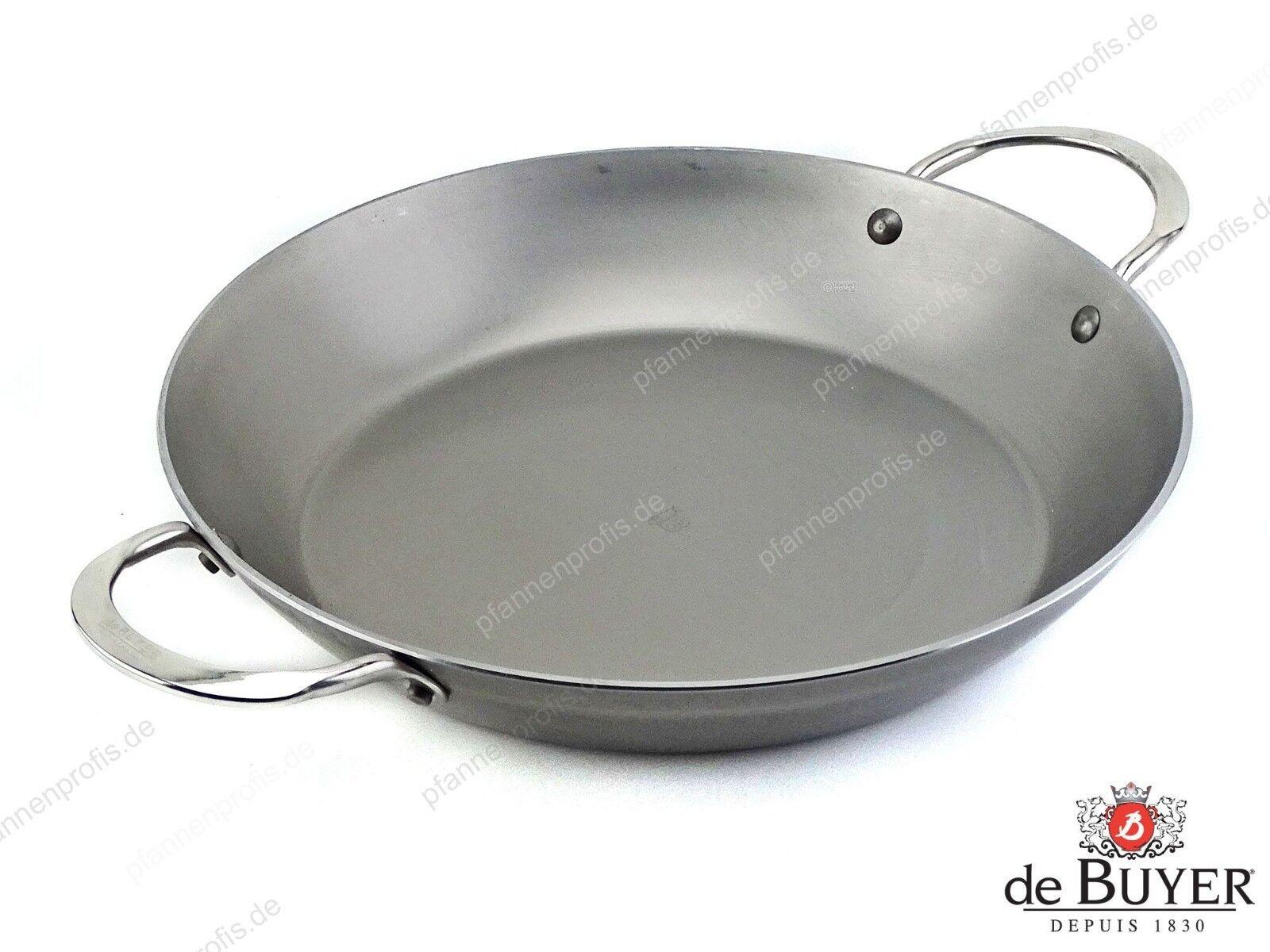 DE BUYER Servierpfanne Paella Pfanne Eisen-Pfanne MINERAL B ELEMENT 32 cm | Moderne und elegante Mode