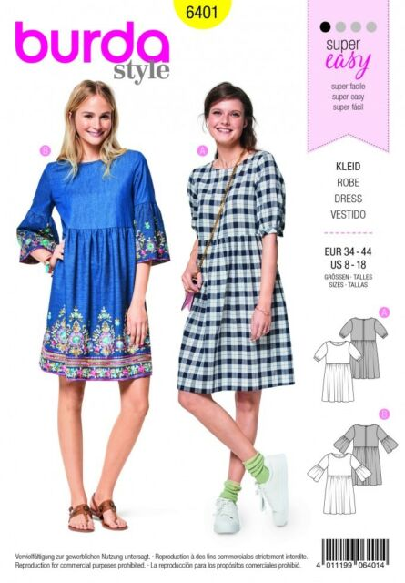 Vogue Ladies Easy Sewing Pattern 1544 Shift Dress with Back Drop Collar /&...