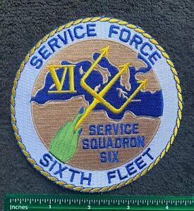 Service Squadron Six Sixth Fleet Military Embroidered Patch