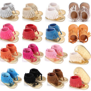 Kids-Boys-Girls-Sandals-Tassel-Anti-Slip-Crib-Shoes-Soft-Sole-Crib-Shoes