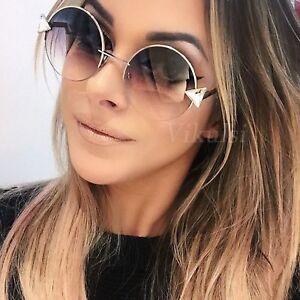 608e97f3b Image is loading 2019-Oversized-Round-Sunglasses-Women-Vintage-Oculos-Shade-