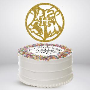 Marvelous Gold Harry Potter Birthday Cake Topper Glitter Die Cut Bling Funny Birthday Cards Online Elaedamsfinfo