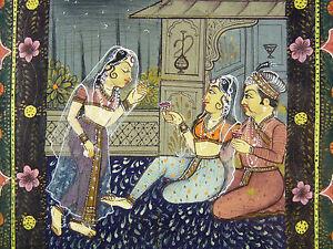 Arte-Qajar-p-Rodillos-Original-Original-Painting-Iran-XIX-Escritura-Naskhi